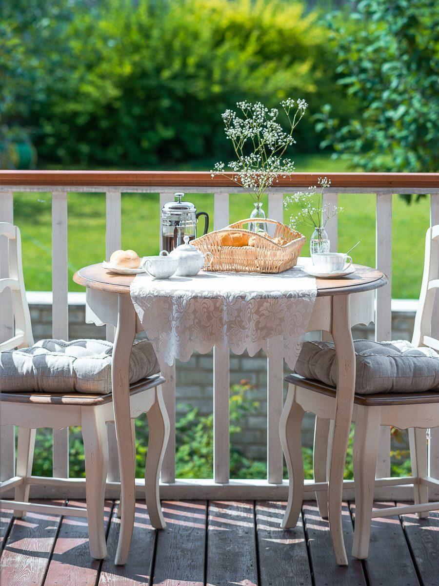 Круглый обеденный стол прованс